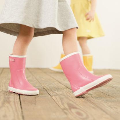 Bergstein Kinder Gummistiefel Pink Naturkautschuk