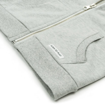 FRIEDA FREI Hoodie Companion in Casual Grey - Detail