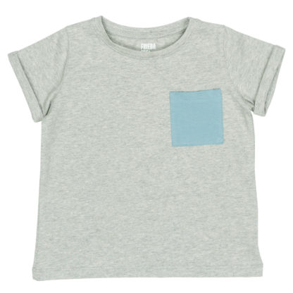 FRIEDA FREI T-Shirt In My Pocket in Casual Grey and River Blue
